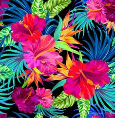 Drive You Mad Hibiscus Pattern Beautiful pattern on RedBubble.  (Found this lovely image while investigating other places to sell my designs...)