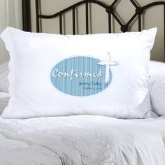 Confirmation: Light of God Blue Pillow Case