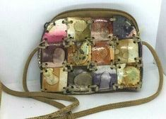 Vintage Small wallet Made Original Handmade Women Purse Sew wood mosaic pieces #Handmade