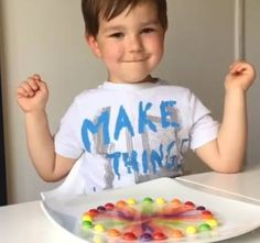 Taste the rainbow skittles with this cool little science experiment