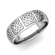 Mens Celtic Knot Wedding Band In Gold Comfort Fit Ring This From My Love Is Crafted With Intricate