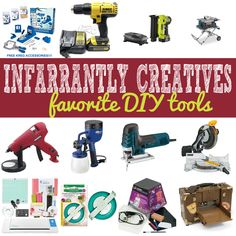 People always ask about my favorite DIY and craft tools. Well, here they are! | #Ad