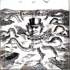 Historische Fotos Karikaturen Imperialismus