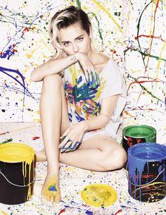 Miley Cyrus – Elle UK Magazine PhotoShoot