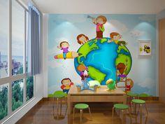 Бесплатная доставка эко доброжелательный 3d огромная фреска papel де parede довольно мир для детей спальня обои фрески, принадлежащий категории Обои и относящийся к Для дома и сада на сайте AliExpress.com   Alibaba Group