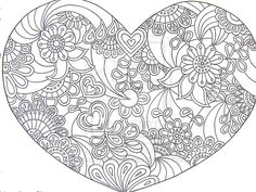 Heart Zentangle Paisley Doodle Drawing by Hand by KathyAhrens.deviantart.com on @deviantART
