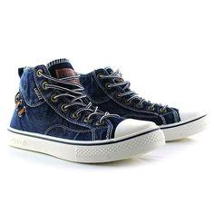 Retro Style Splice and Lace-Up Design Men's Canvas Shoes