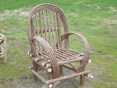 Maine Made Rustic Cedar Bentwood Twig Camp Chair by logcabindecor, $165.00