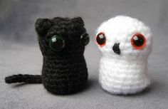Crochet Creatures- The Owl And Cat  Lucy Ravenscar