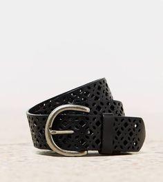 Lattice Leather Belt | American Eagle