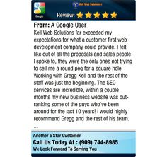 Kell Web Solutions far exceeded my expectations for what a customer first web development...