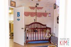 baby nursery - peter pan theme - pirate ship crib - san jose photographer - photos by kim e Baby Nursery Bedding, Baby Nursery Decor, Baby Boy Nurseries, Babies Nursery, Crib Bedding, Nursery Ideas, Room Ideas, Pirate Nursery, Peter Pan Nursery