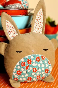 PDF Sewing Pattern Betsy & Basil Bunny Softies by retromama
