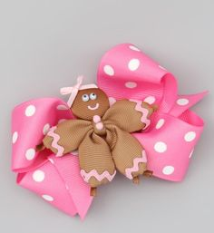 Ribbon bow with ginger bread