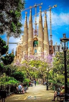 Sagrada Familia, Barcelona, Spain of course my pictures of it never came out this beautiful