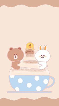 Lines Wallpaper, Phone Screen Wallpaper, Wallpaper Iphone Cute, Iphone Backgrounds, Kawaii Art, Kawaii Anime, New Toy Story, Kakao Friends, Friends Wallpaper