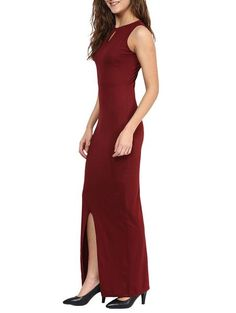 LadyIndia.com # Western Wear, Designer Maroon Color Maxi Dress Sleeveless Cotton Jersey Prom And Gowns Dress, Dress, Party Wear Dress, Long Dresses, Western Wear, Club Wear, Maxi Dress, https://ladyindia.com/collections/western-wear/products/designer-maroon-color-maxi-dress-sleeveless-cotton-jersey-prom-and-gowns-dress?variant=31544903309