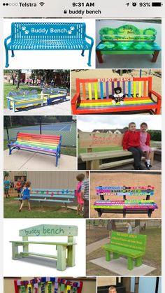 Playground Games, Outdoor Playground, Outdoor Classroom, Outdoor School, Organisation Administrative, Girl Scout Silver Award, Buddy Bench, Preschool Garden, Student Leadership
