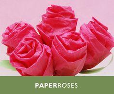 rosas de papel tissue