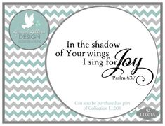 Psalm 63:7 LL001 A  Scripture  SVG file  Vector  by lyricalletters