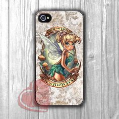 Tinkerbell Quotes Vintage - zzA for iPhone 4/4S/5/5S/5C/6/ 6+,samsung S3/S4/S5,samsung note 3/4