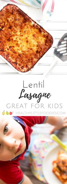 This red split lentil lasagne is a perfect dish for the whole family. It is a brilliant dish for baby led weaning (BLW) too. An great vegetarian lasagne