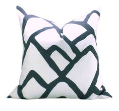 Schumacher Zimba pillow cover in Charcoal by sparkmodern on Etsy, $60.00