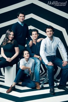 Rule Breakers 2013: The Cool Kids From left A24's Daniel Katz and Nicolette Aizenberg, actors Miles Teller and Shailene Woodley and A24's David Fenkel.