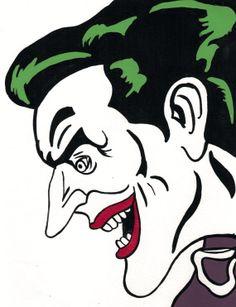Acrylic painting joker comic book by vintagearthero on Etsy, $40.00boy bedroom decor