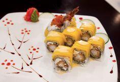 Sushi (Hawaiian roll) from Ginmiya Asian Diner in Evansville, Indiana.