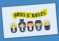 Guns N' Roses rock band parody PDF cross stich by cloudsfactory