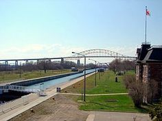 Sault Ste Marie Canal in Ontario Countries Around The World, Around The Worlds, Sault Ste Marie, Lake Superior, Great Lakes, Bangkok, Ontario, Places Ive Been, Scenery