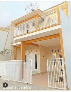 suka banget sama desain rumah ini.. Luas tanahnya cuma 7*15 mKecil tapi cantik😍😍😍😍😍Pagar depannya aja kal...