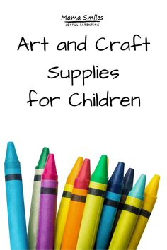 Arts and crafts supplies for kids are wonderful for building hand-eye coordination, creative self-expression, and fine motor skills. Here are the basics that I always keep stocked in our home. Toddler Art Projects, Craft Projects For Kids, Easy Crafts For Kids, Toddler Crafts, Kid Crafts, Craft Ideas, Preschool Arts And Crafts, Educational Activities For Kids, Arts And Crafts Supplies