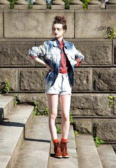 Original vintage Levi's dip dyed denim jacket  £45