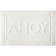 Serena & Lily Ahoy Bath Mat ($48) ❤ liked on Polyvore featuring home, bed & bath, bath, bath rugs, cotton bathroom rugs, cotton bath mats, plush bathroom rugs, cotton mat and plush bath mat