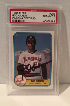 1981 Fleer Rod Carew #268 PSA/DNA Signed NM-MT 8 Baseball Card. 1981 Fleer. | eBay!