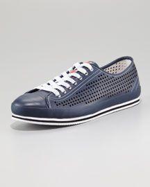 b01368cc33fd Prada Perforated Low Sneaker Hip Mens Clothes