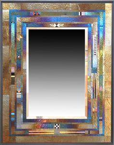 Quoin Mirror: Thomas Meyers: Art Glass Mirror | Artful Home