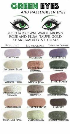 The best Shadowsense colors for green eyes #youngermakeup  #colors #green #shadowsense #youngermakeup #makeuptips
