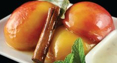 Baked nectarines with a touch of vanilla sugar makes a delicious and healthy summer treat.