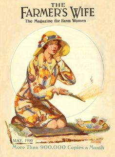 The charming cover of The Farmer's Wife magazine cover, May 1930. #vintage #1930s #gardening