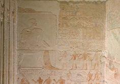 Chapelle du mastaba d'Akhethetep, bas relief de calcaire, V dynastie, Saqqara