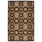 Five Seasons Brown 3 ft. 10 in. x 5 ft. 8 in. Indoor/Outdoor Area Rug