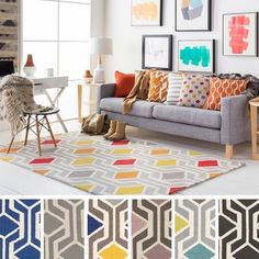 This attractive hand-tufted rug, made of wool, introduce clean geometric designs woven with honest materials for a modern space. Pile Height: - inch Material: Wool Style: Contemporary, N Modern Area Rugs, Modern Spaces, Hand Tufted Rugs, Online Home Decor Stores, Online Shopping, Geometric Designs, Geometric Patterns, Home Decor Outlet, Wool Rug