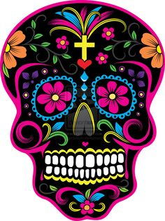 Dia de los Muertos Skull 2 by Hazardoflove on DeviantArt Tag der toten Schädel Day of the Dead Skull Day Of The Dead Party, Day Of The Dead Skull, Day Of The Dead Artwork, Candy Skulls, Sugar Skulls, Sugar Skull Artwork, Sugar Skull Painting, Mexican Skulls, Mexican Folk Art
