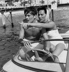 Alain Delon e Bella Darvi, 1958