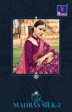 Book order or inquiry now call or whatsapp : ( ) 8866444471 madras silk vol 2 by shangrila pure cotton printed fancy saree catalogue dealer hions Indian Ethnic Wear, Printed Sarees, Cover Pages, Saree Collection, Cotton Saree, Printed Cotton, Lehenga, Print Design, Sari