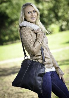 leather 'oversized' shoulder bag by shruti designs | notonthehighstreet.com