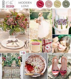 Modern Love Inspiration Board #valentines #redweddinginspiration